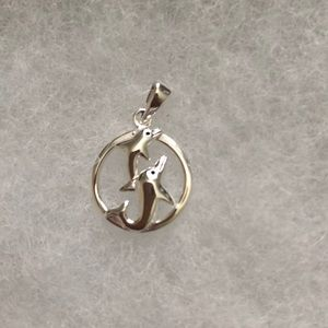 925 Sterling Silver Pendant -Dolphin